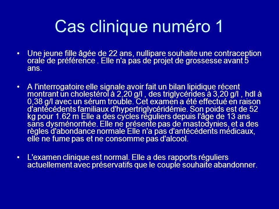 Cas clinique numéro 1