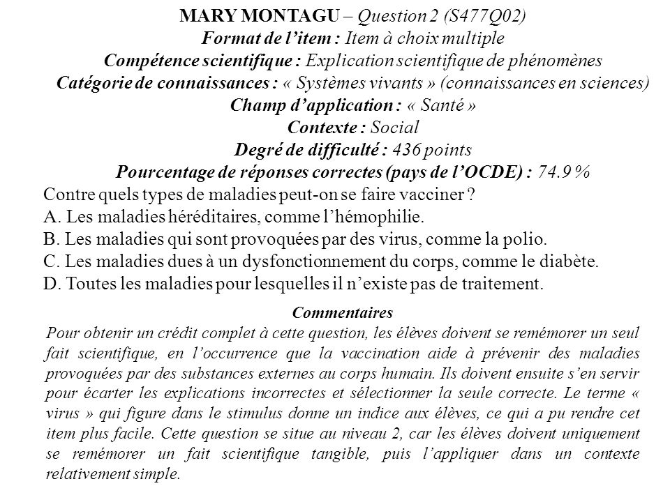 MARY MONTAGU – Question 2 (S477Q02)