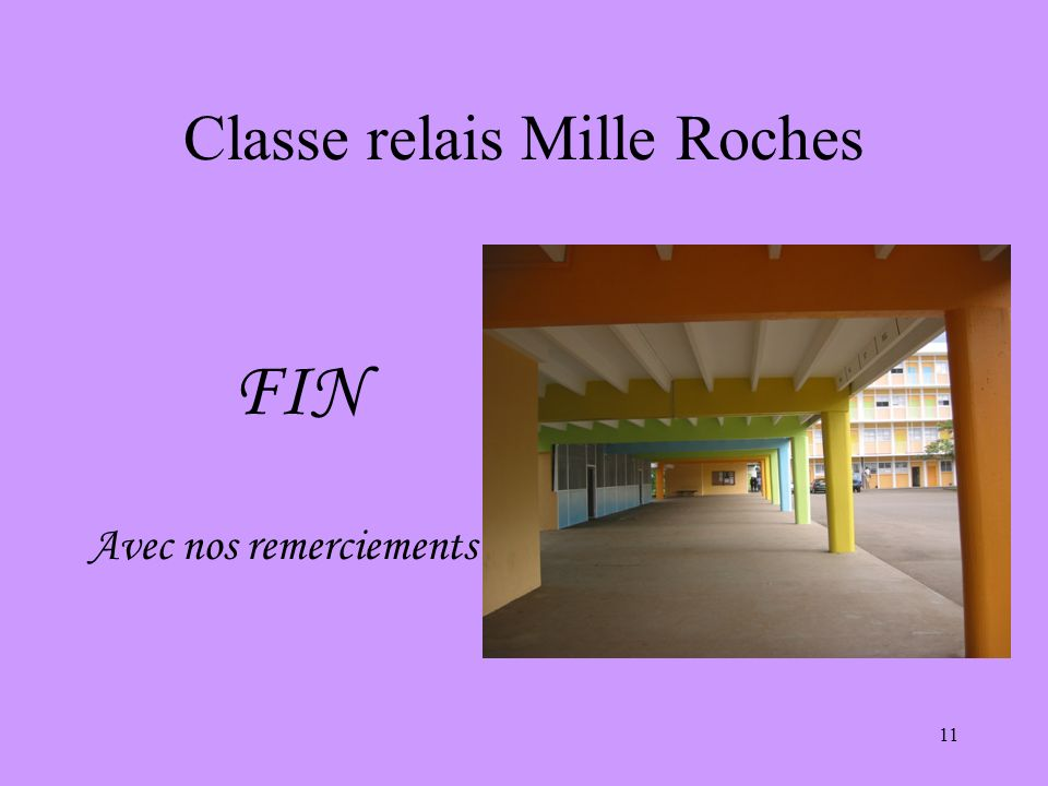 Classe relais Mille Roches