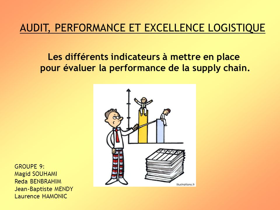 AUDIT, PERFORMANCE ET EXCELLENCE LOGISTIQUE