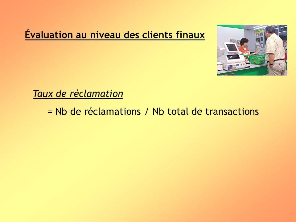Évaluation au niveau des clients finaux