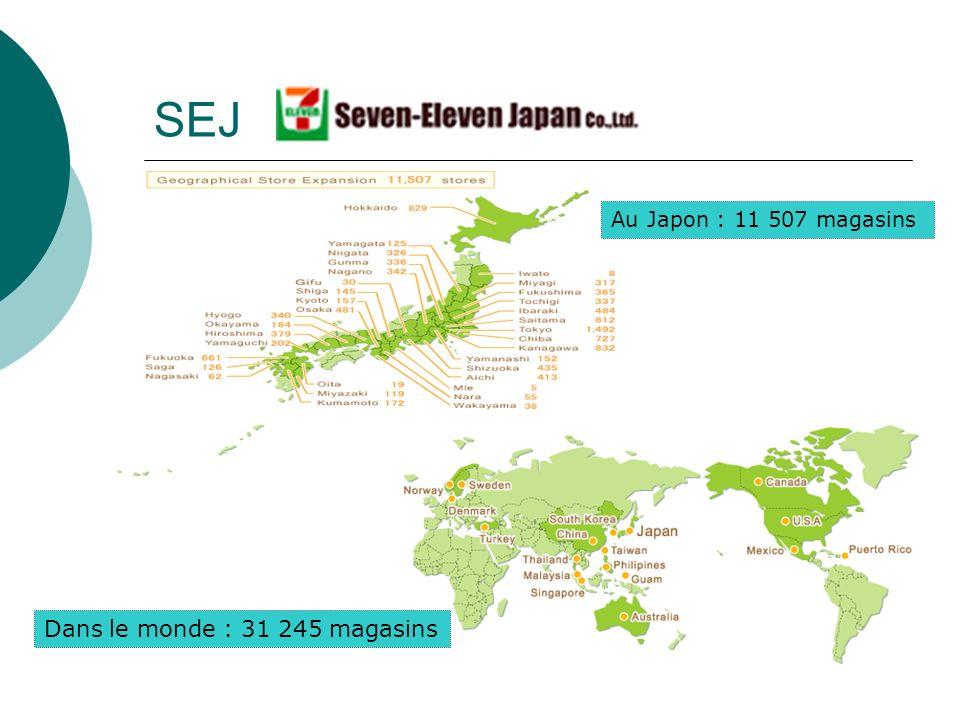 SEJ Au Japon : 11 507 magasins Dans le monde : 31 245 magasins