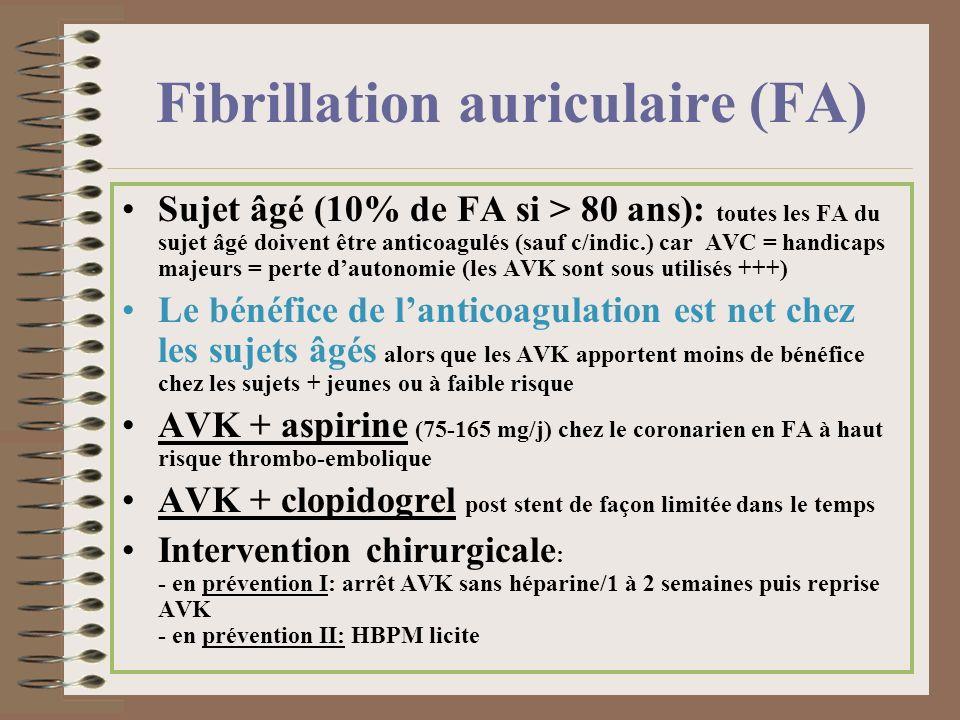 Fibrillation auriculaire (FA)