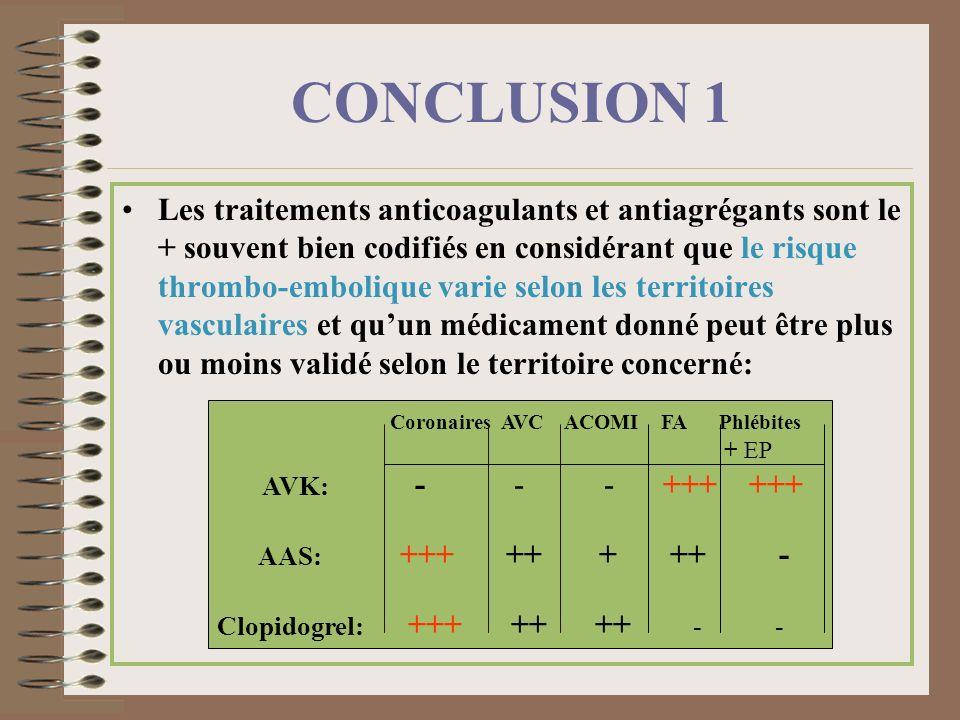 Coronaires AVC ACOMI FA Phlébites