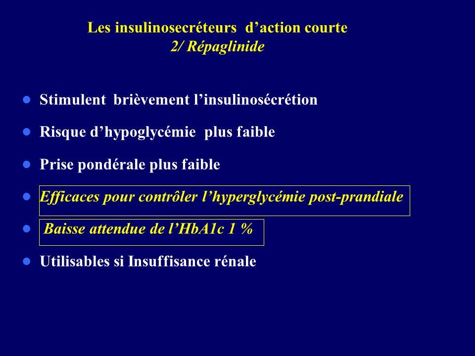 Les insulinosecréteurs d'action courte