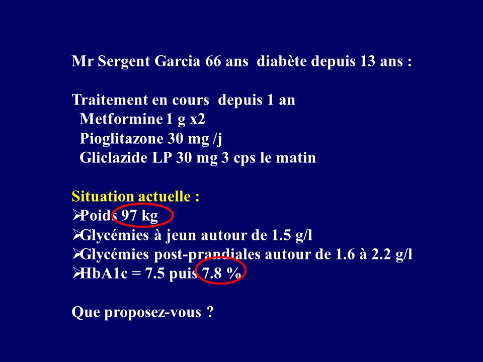 Mr Sergent Garcia 66 ans diabète depuis 13 ans :