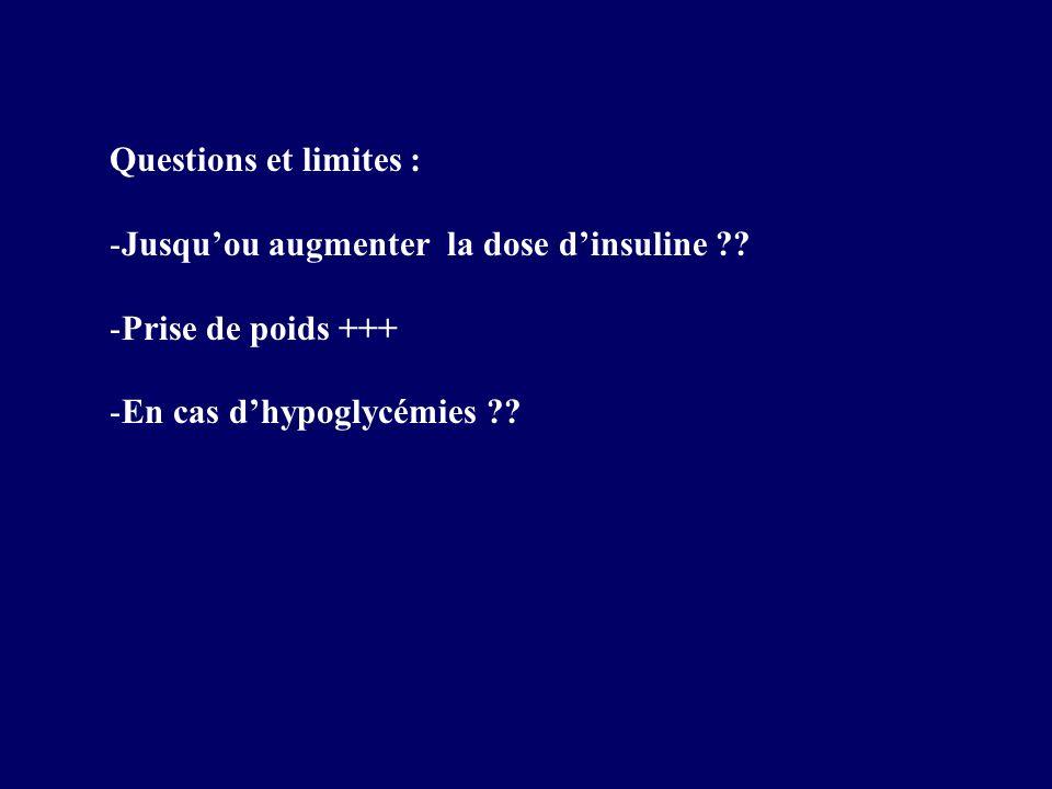 Questions et limites : Jusqu'ou augmenter la dose d'insuline .