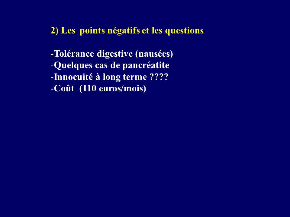 2) Les points négatifs et les questions
