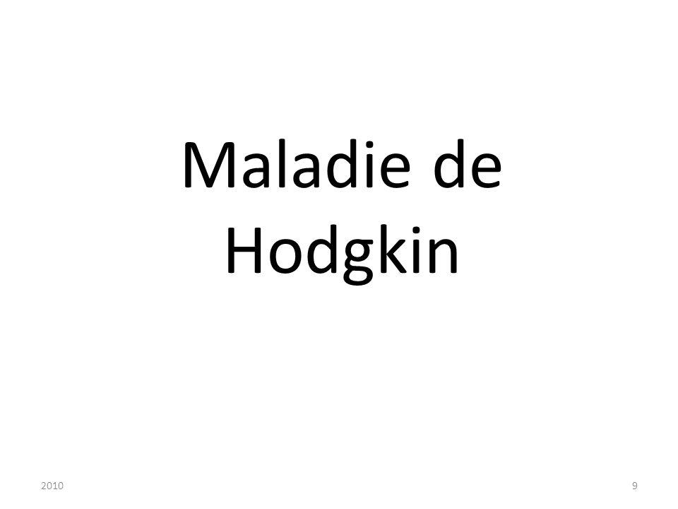 Maladie de Hodgkin 2010