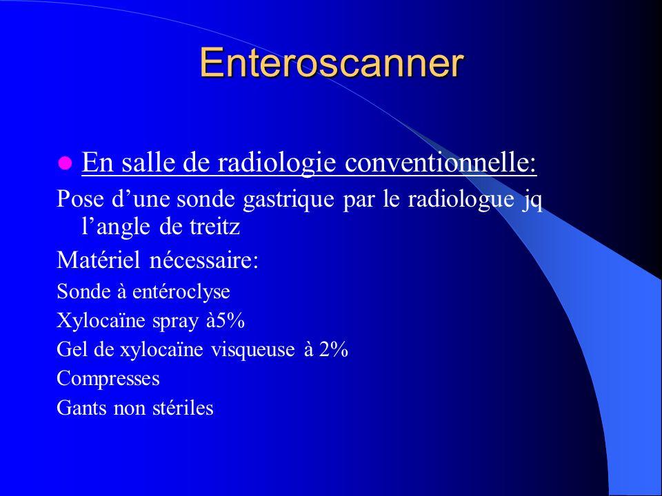 Enteroscanner En salle de radiologie conventionnelle: