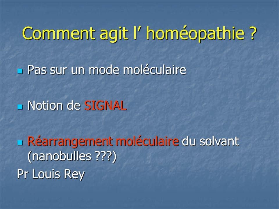 Comment agit l' homéopathie