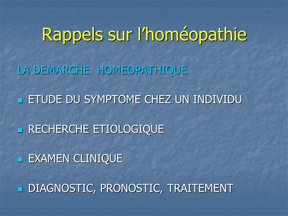 Rappels sur l'homéopathie