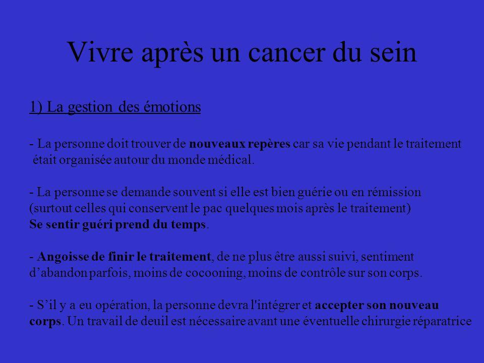 Vivre après un cancer du sein