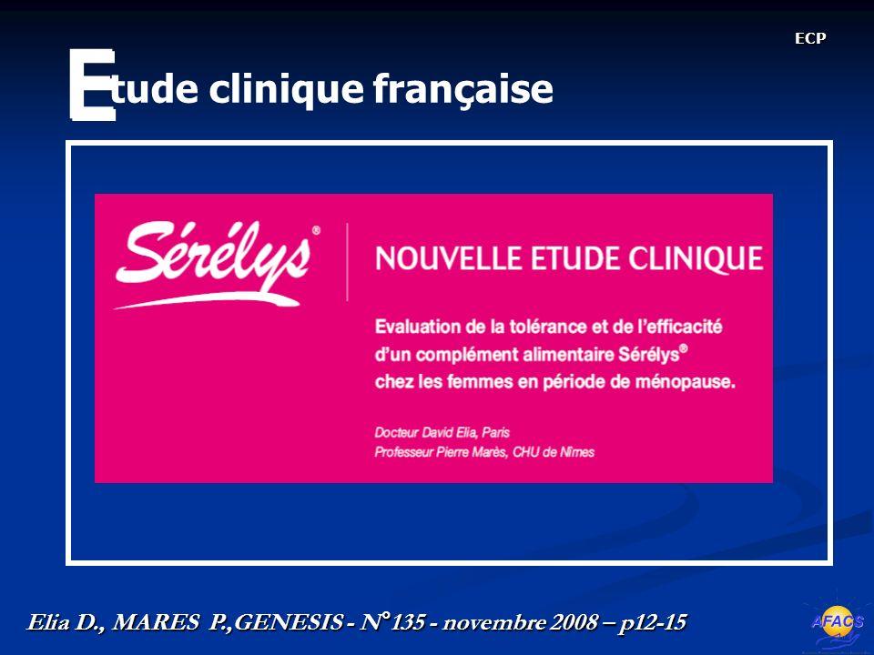 E tude clinique française