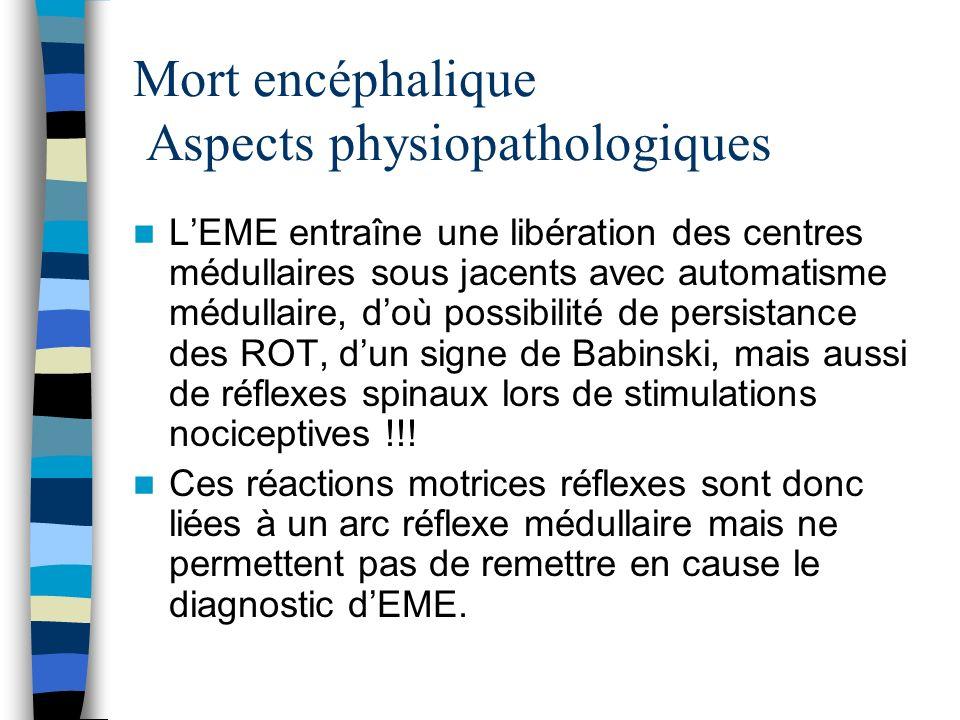 Mort encéphalique Aspects physiopathologiques