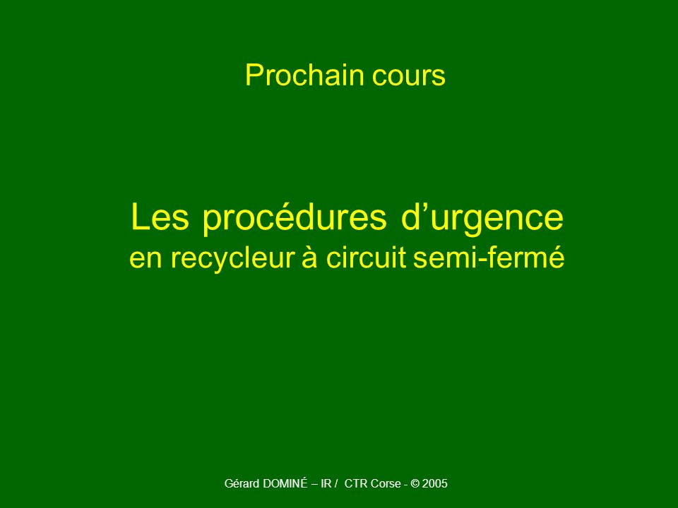 Les procédures d'urgence