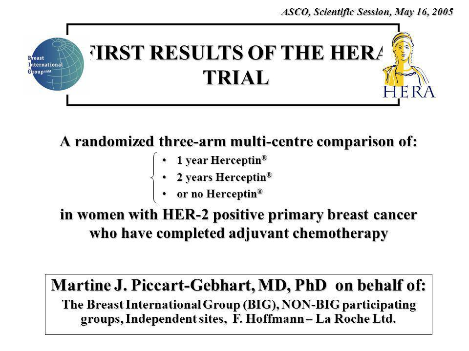 FIRST RESULTS OF THE HERA TRIAL