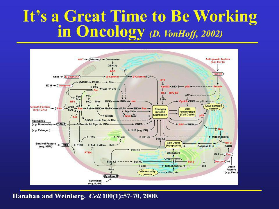 It's a Great Time to Be Working in Oncology (D. VonHoff, 2002)