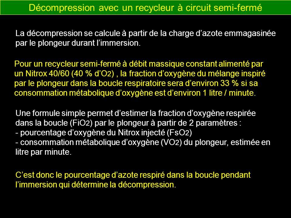 Décompression avec un recycleur à circuit semi-fermé