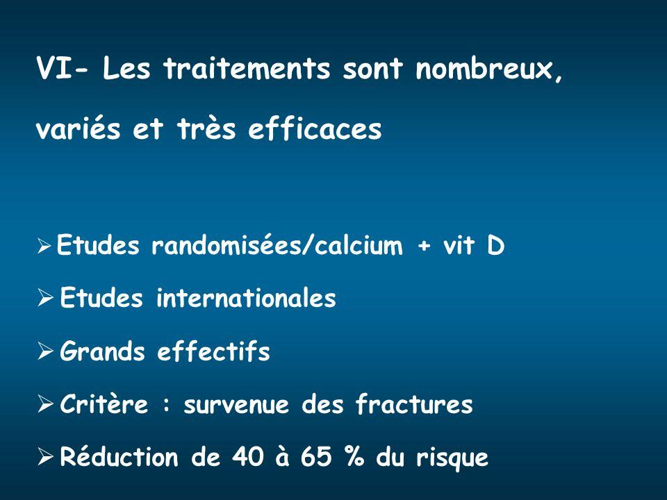 VI- Les traitements sont nombreux, variés et très efficaces