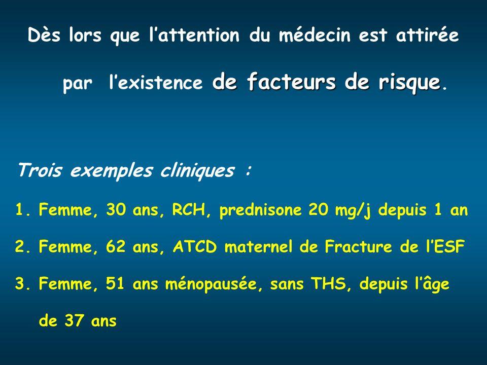 Trois exemples cliniques :