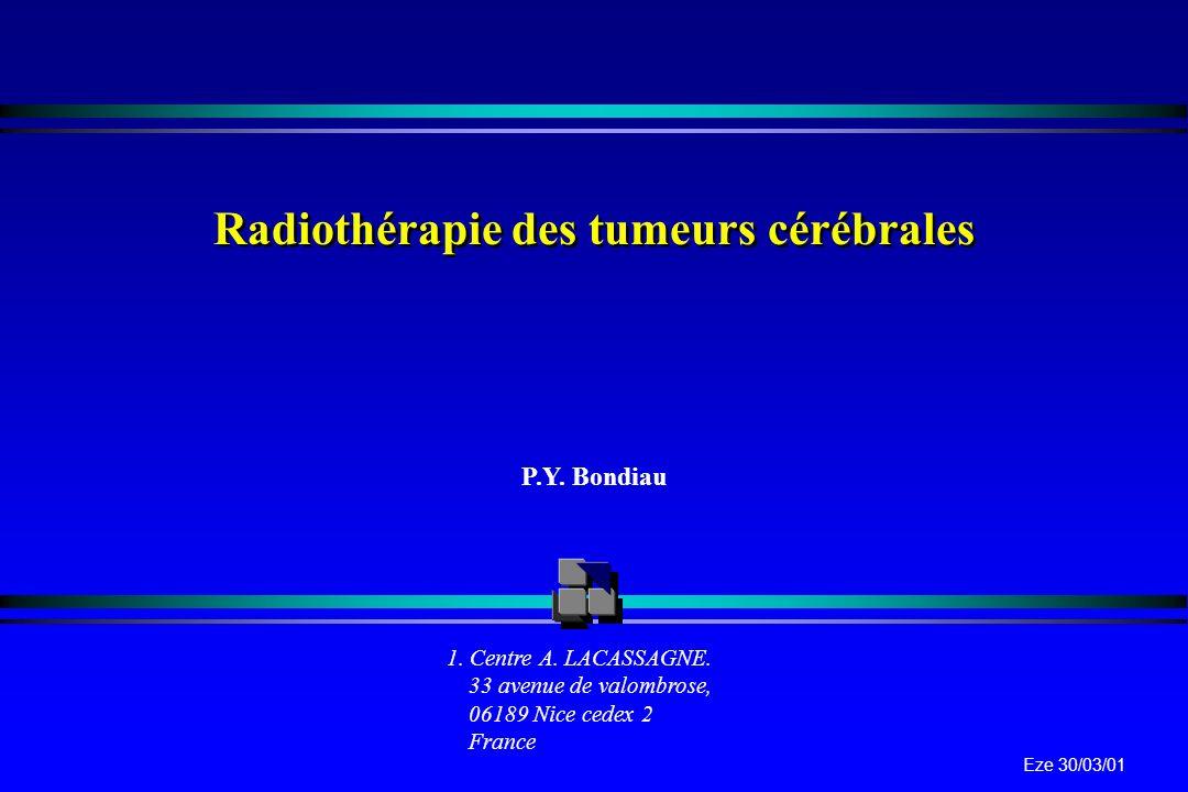 Radiothérapie des tumeurs cérébrales
