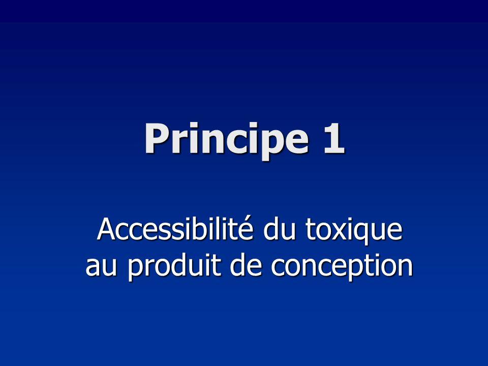 Accessibilité du toxique au produit de conception