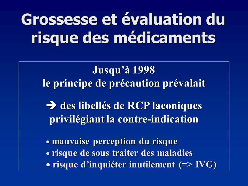 Grossesse et évaluation du risque des médicaments