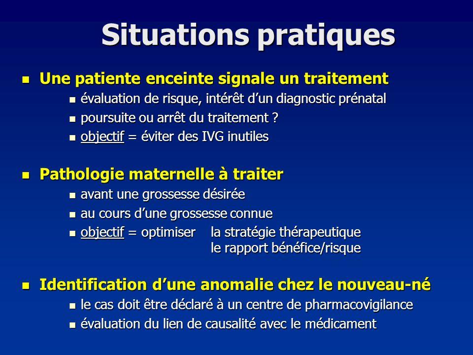 Situations pratiques Une patiente enceinte signale un traitement