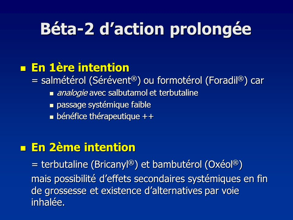 Béta-2 d'action prolongée