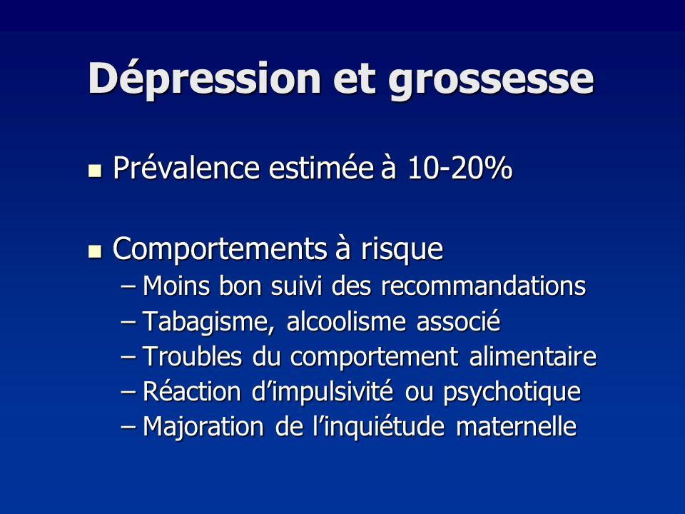 Dépression et grossesse