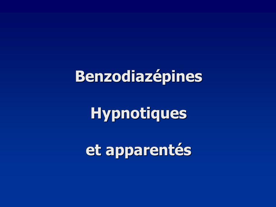 Benzodiazépines Hypnotiques et apparentés