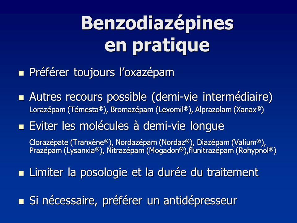 Benzodiazépines en pratique