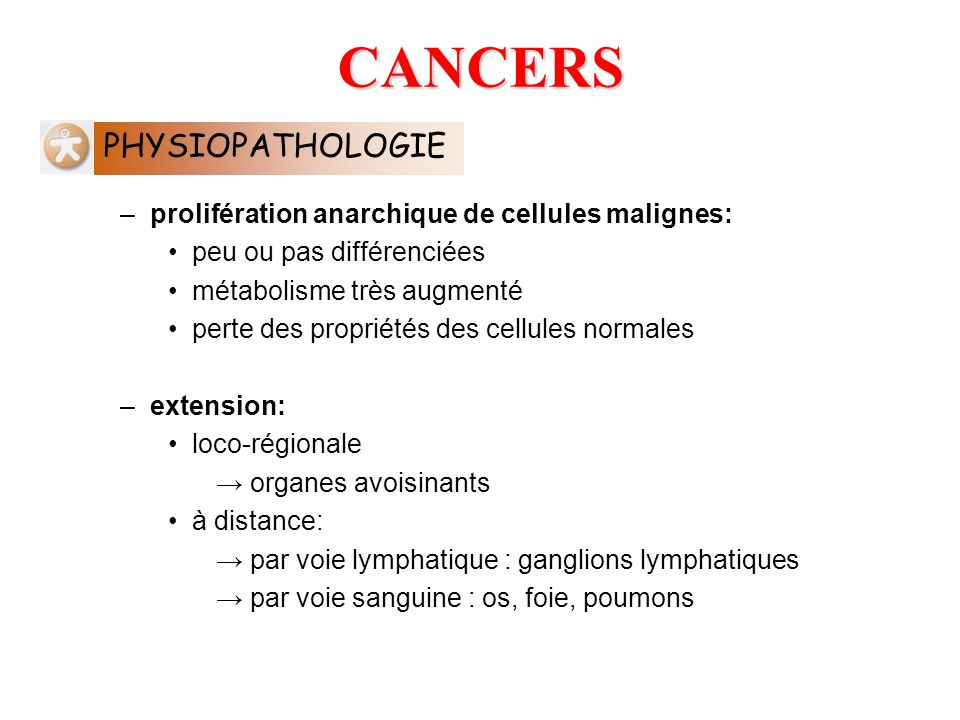CANCERS PHYSIOPATHOLOGIE