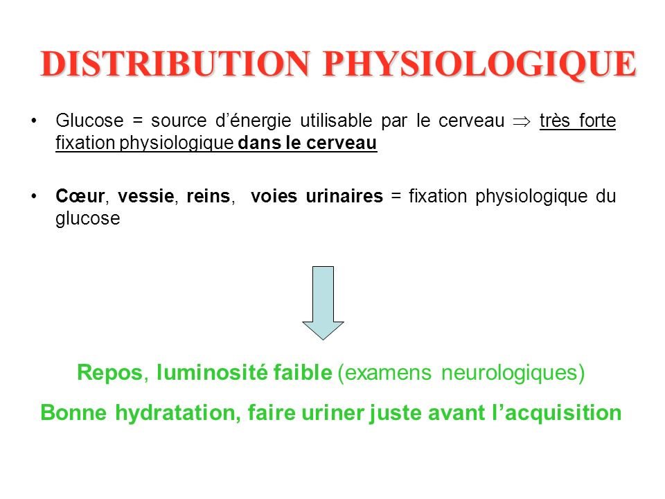 DISTRIBUTION PHYSIOLOGIQUE