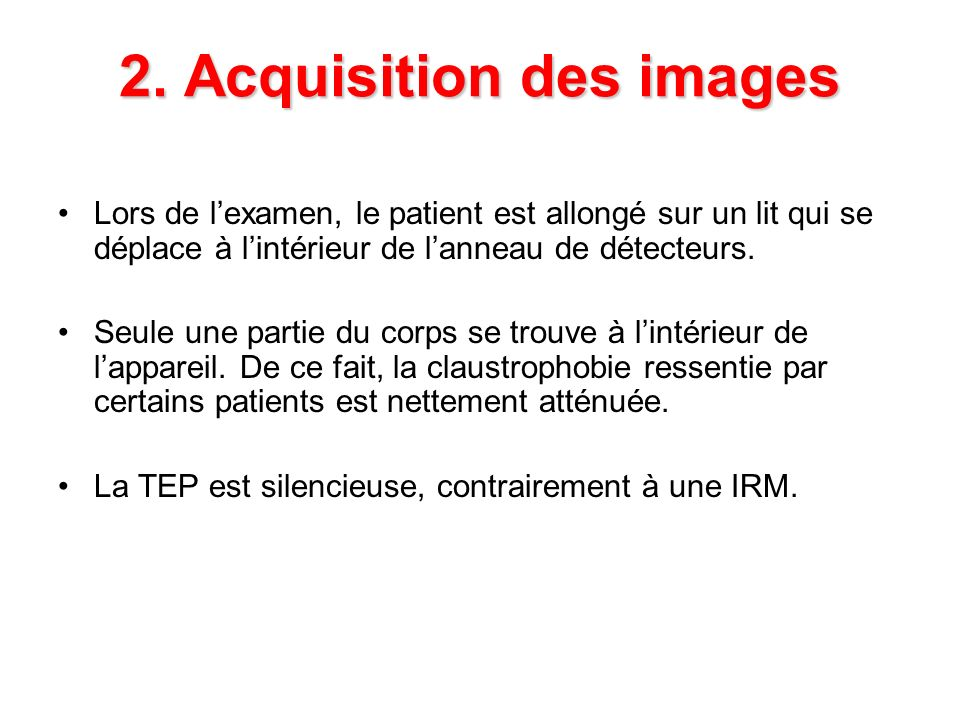 2. Acquisition des images