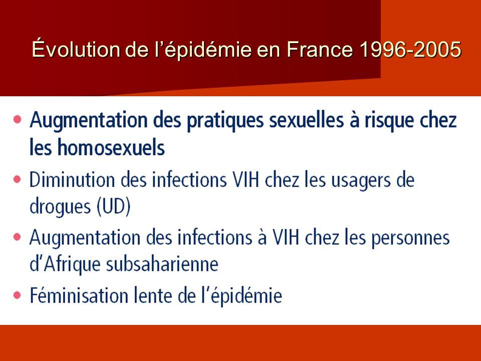Évolution de l'épidémie en France 1996-2005