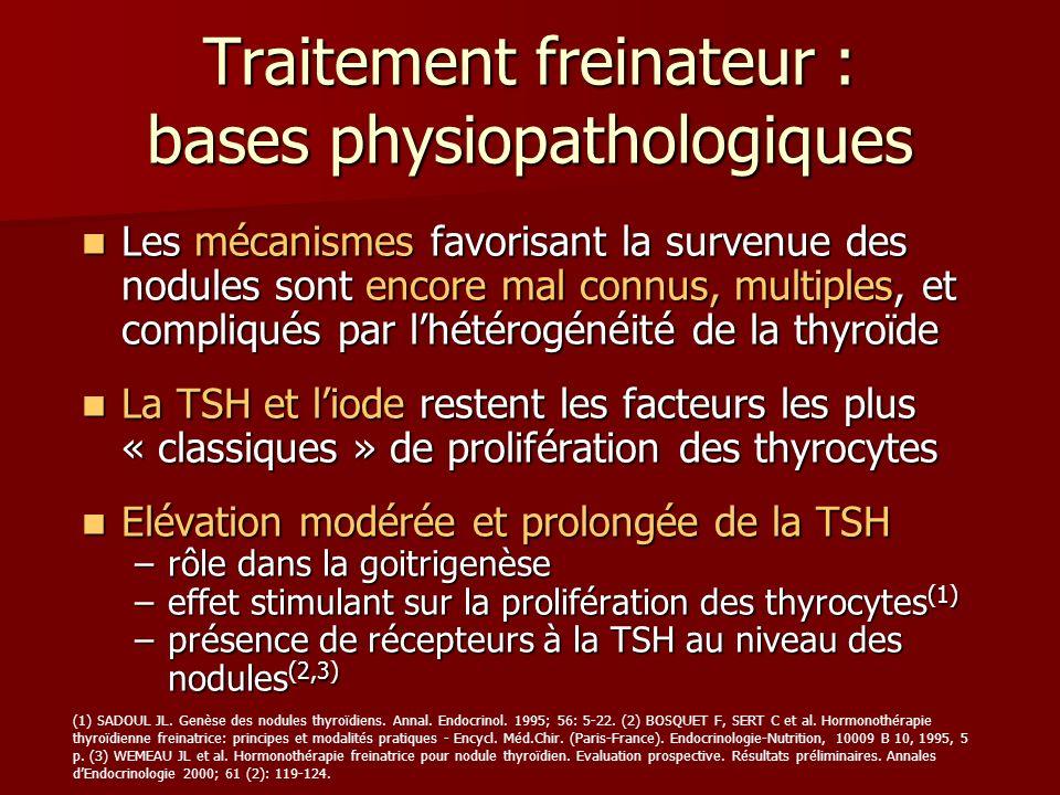 Traitement freinateur : bases physiopathologiques