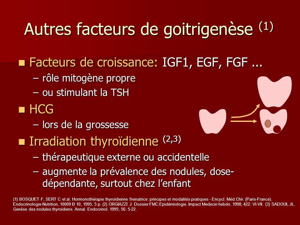 Autres facteurs de goitrigenèse (1)