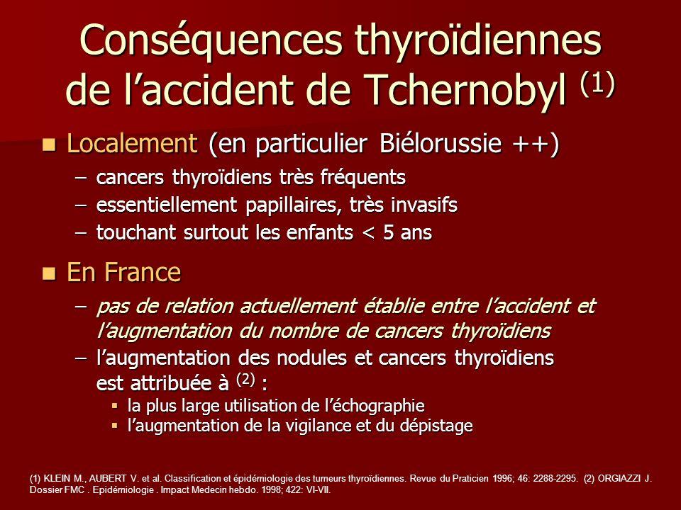Conséquences thyroïdiennes de l'accident de Tchernobyl (1)