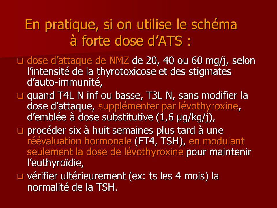 En pratique, si on utilise le schéma à forte dose d'ATS :