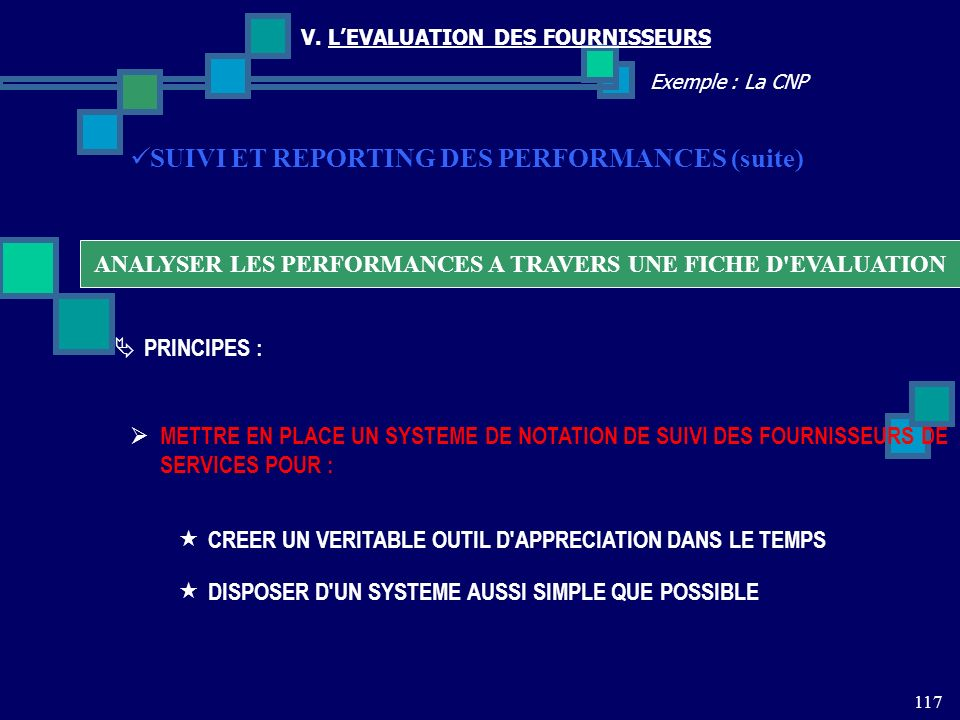 ANALYSER LES PERFORMANCES A TRAVERS UNE FICHE D EVALUATION