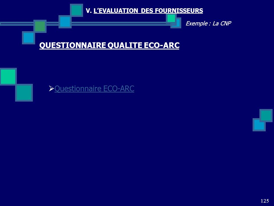 QUESTIONNAIRE QUALITE ECO-ARC