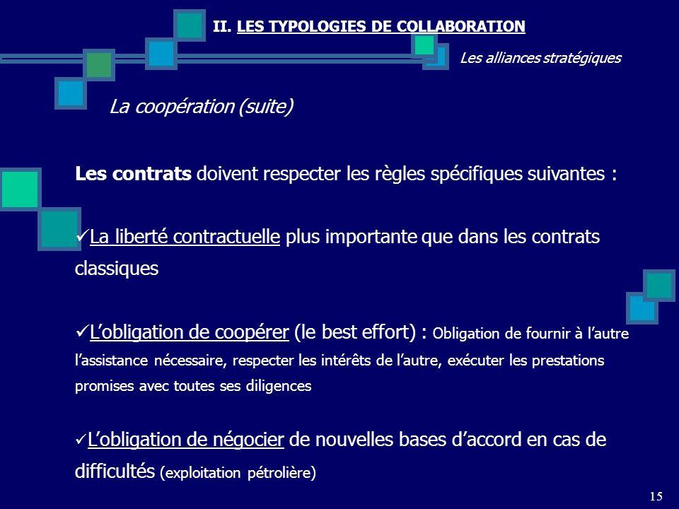 La coopération (suite)
