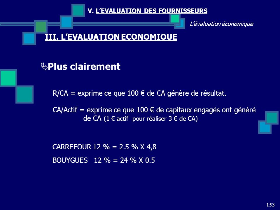 Plus clairement III. L'EVALUATION ECONOMIQUE