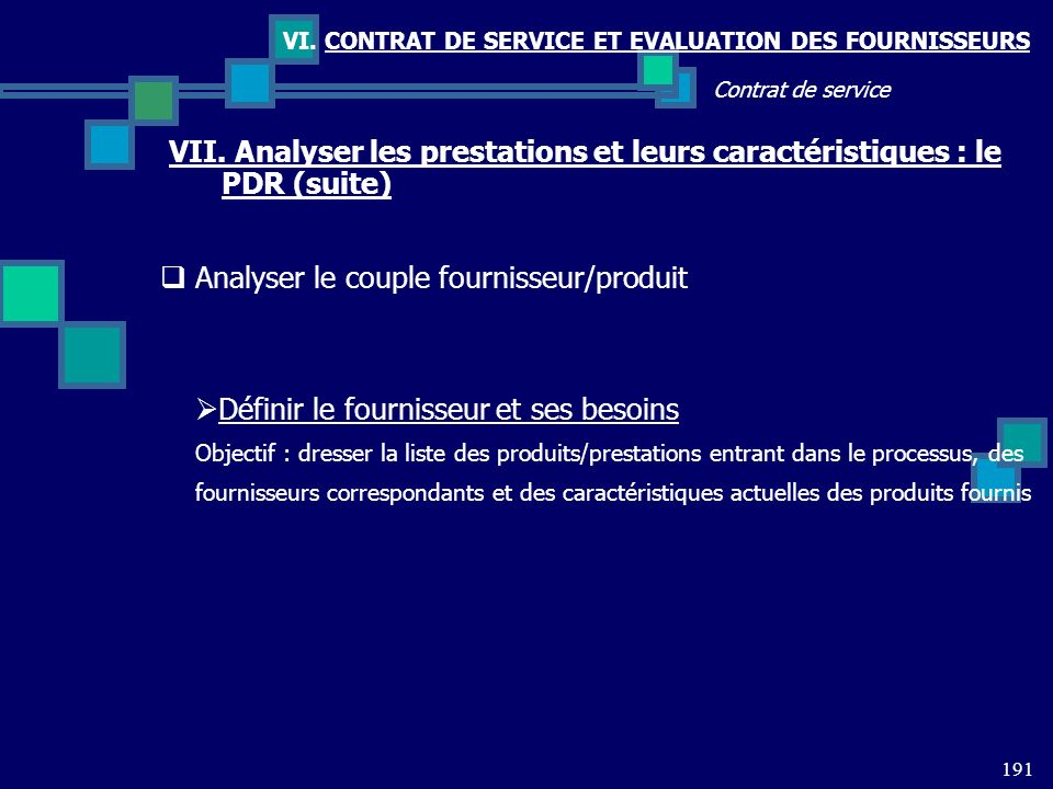Analyser le couple fournisseur/produit