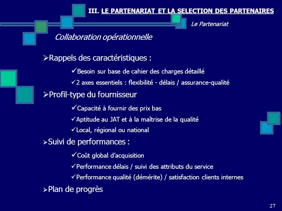 Collaboration opérationnelle