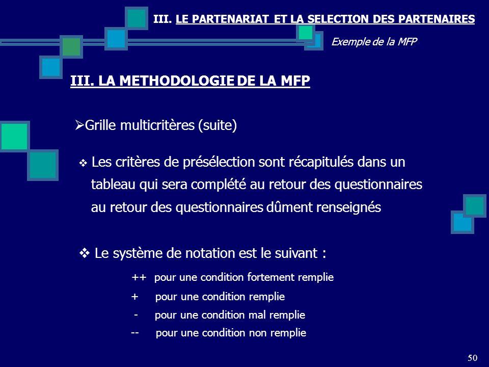 III. LA METHODOLOGIE DE LA MFP