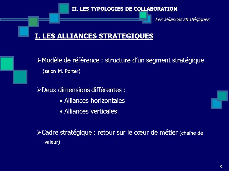 I. LES ALLIANCES STRATEGIQUES