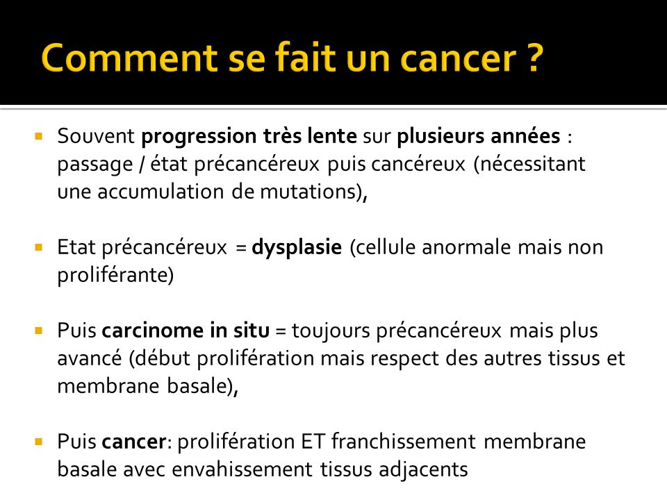 Comment se fait un cancer